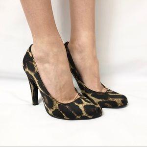 Forever 21 Leopard Heels sz 8 NWOT